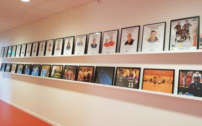 Vår nya fotovägg